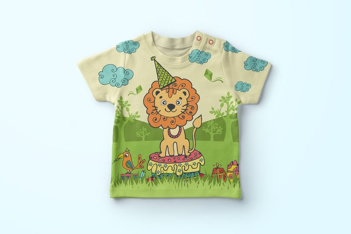 Happy Birthday Funny Lion Free Illustration