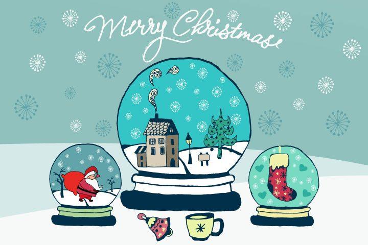 Merry Christmas Vector Free Illustration
