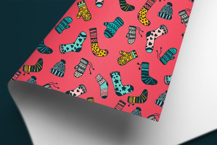 Warm Clothes Illustration Vector Free Pattern