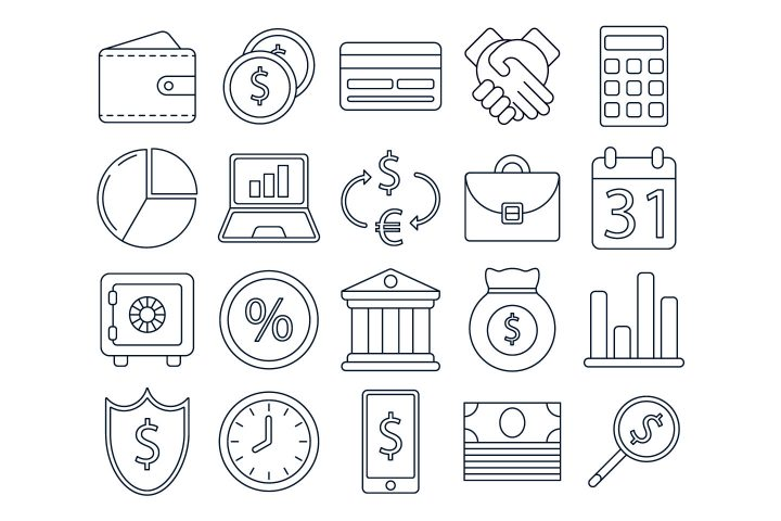 Finance Free Vector Icon Set
