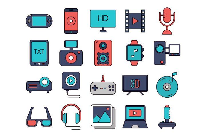 Multimedia Vector Free Icon Set
