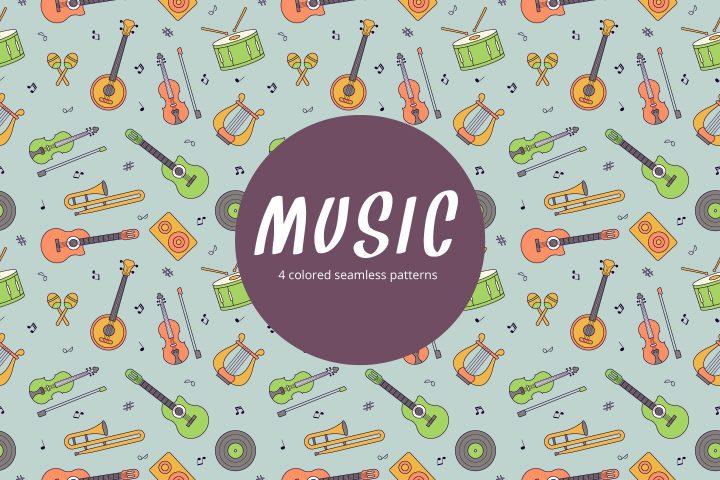 Music Vector Free Seamless Pattern