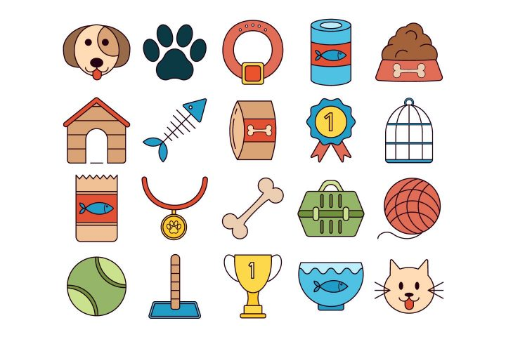Pet Vector Free Icon Set