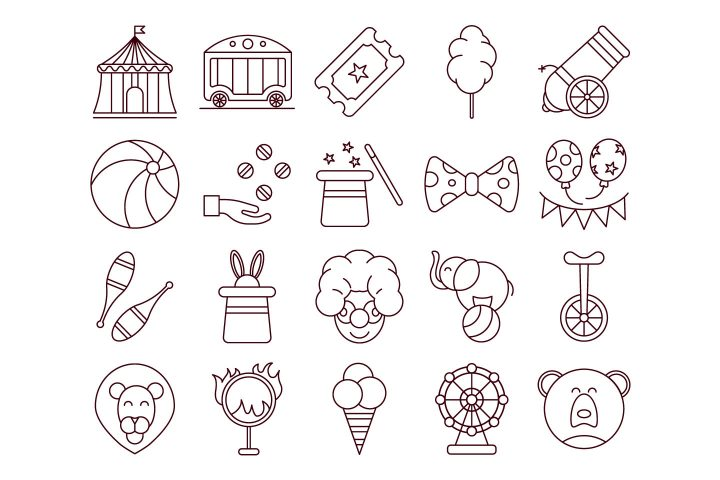 Circus Vector Free Icon Set