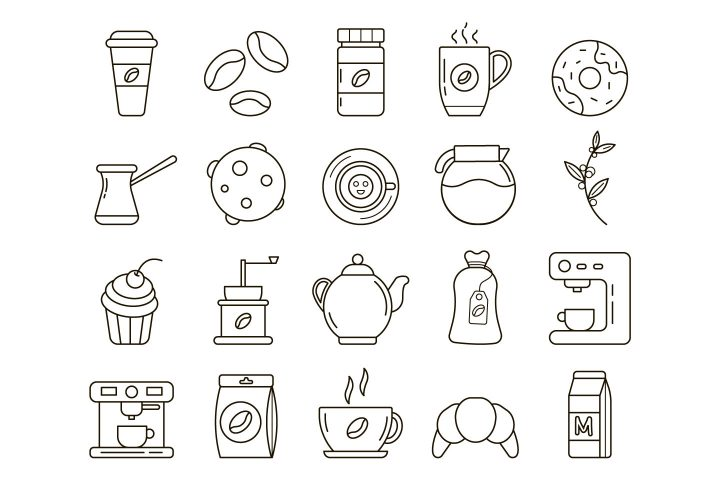 Coffee Vector Free Icon Set