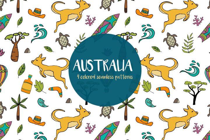 Australia Seamless Free Pattern