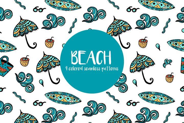 Beach Vector Free Pattern