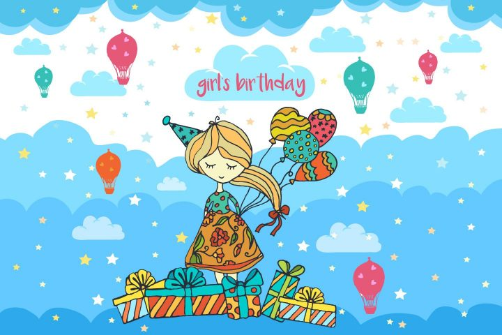 Girl's Birthday Free Vector Illustration