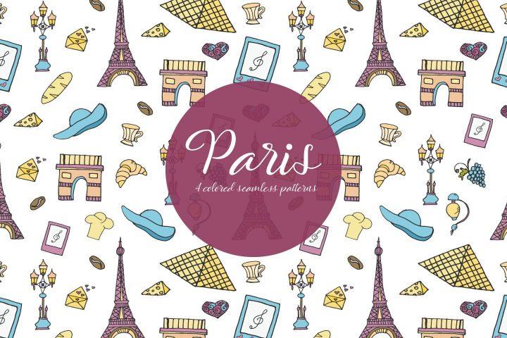 Paris Vector Seamless Free Pattern