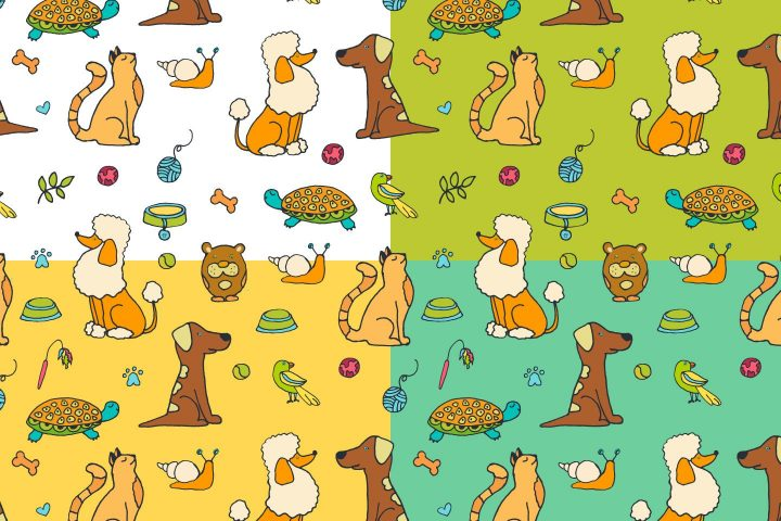 Pets Vector Free Pattern