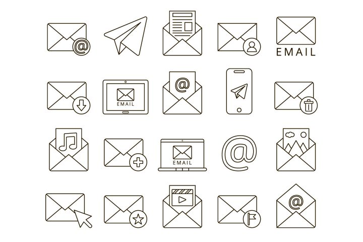 Email Free Vector Icon Set