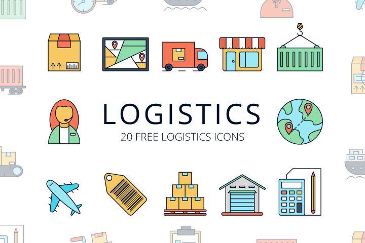 Logistics Vector Free Icon Set