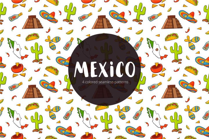 Mexico Free Vector Seamless Pattern