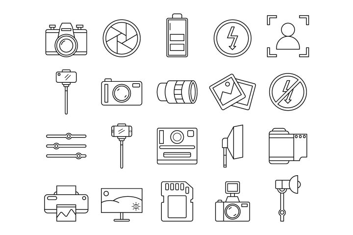 Photo Free Vector Icon Set