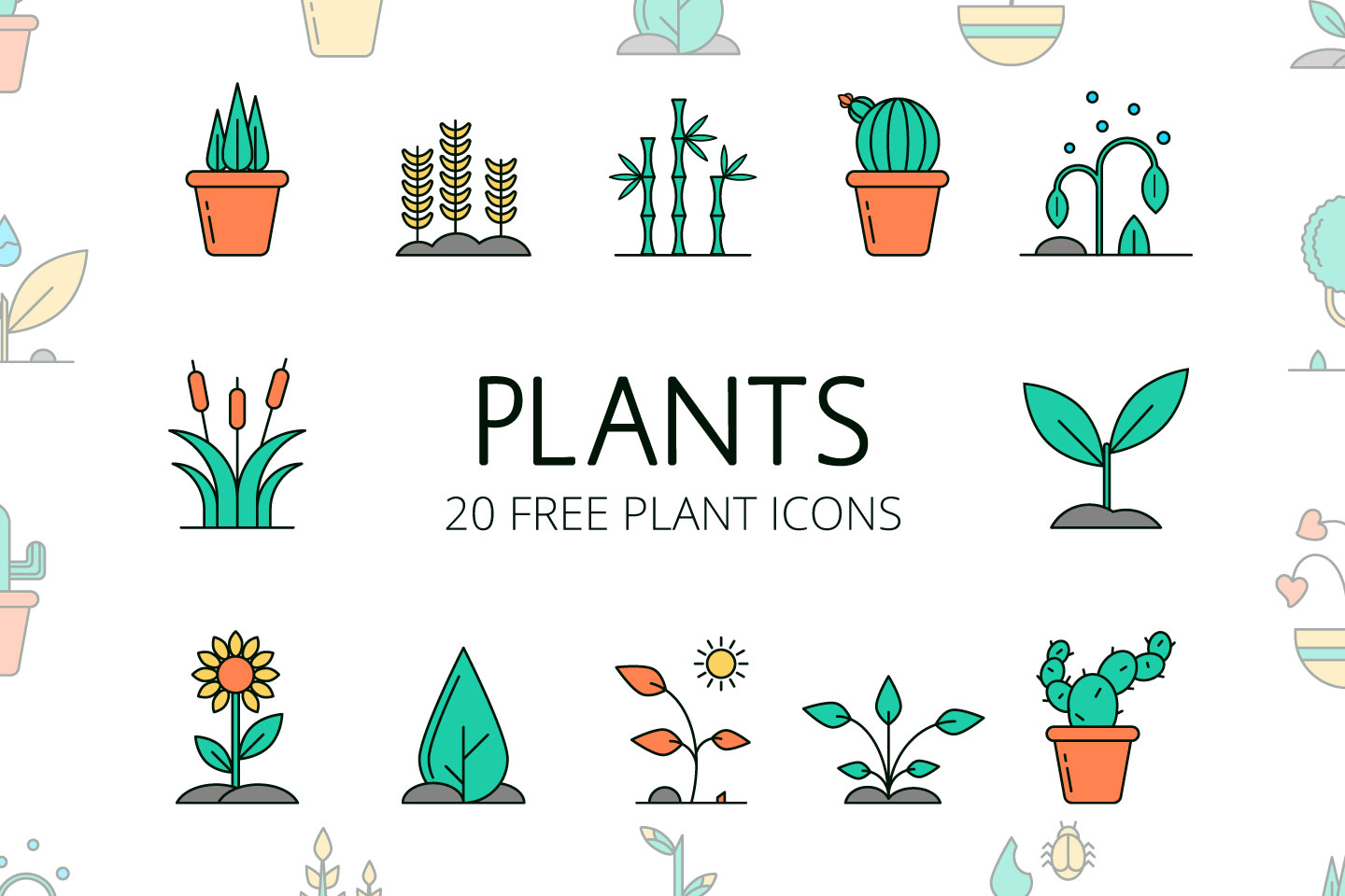 Plant Icon : Free plant icons in wide variety of styles like line, solid, flat, colored outline, hand drawn and many more such styles.