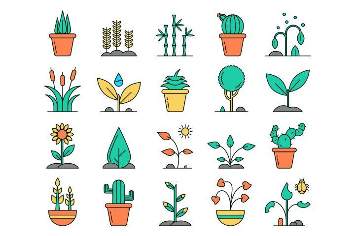 Plants Vector Free Icon Set