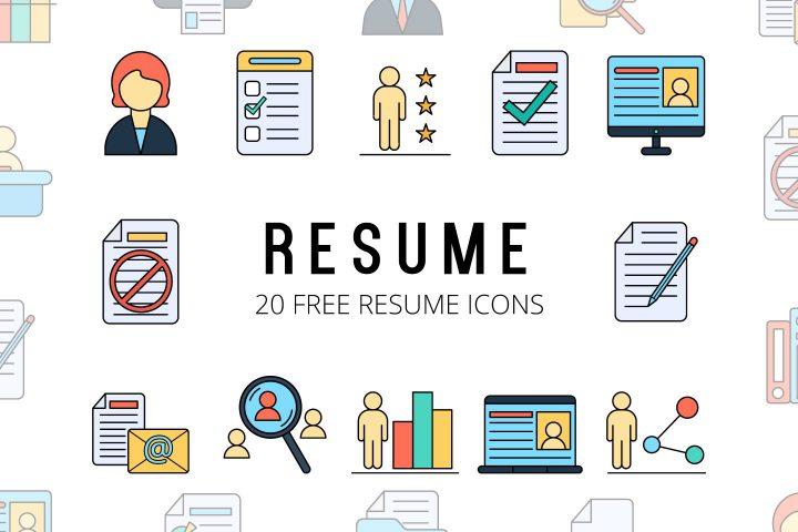 Resume Vector Free Icon Set