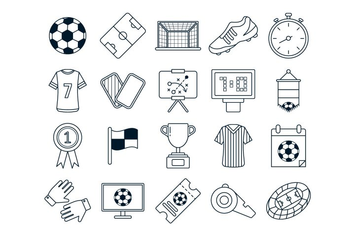Soccer Vector Free Icon Set