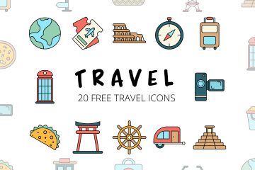 Travel Vector Free Icon Set