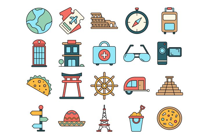 Travel Vector Free Icon Set