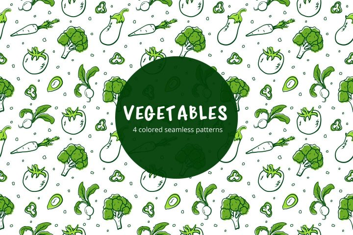 Vegetables Vector Free Seamless Pattern