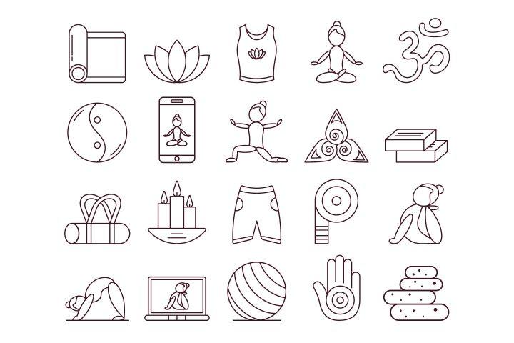 Yoga Free Vector Icon Set