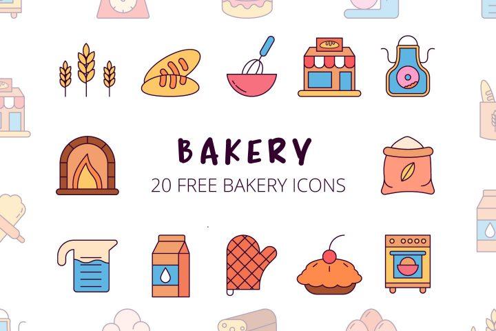 Bakery Vector Free Icon Set