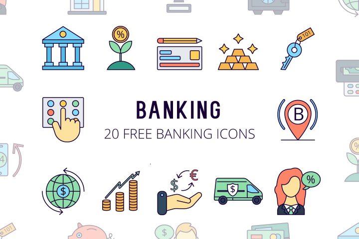 Banking Vector Free Icon Set