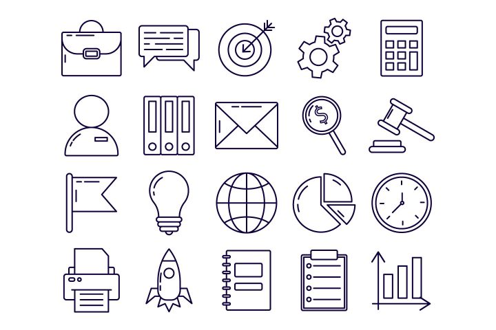 Business Vector Free Icon Set