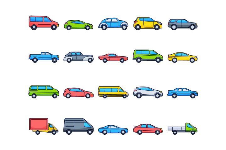 Cars Vector Free Icon Set
