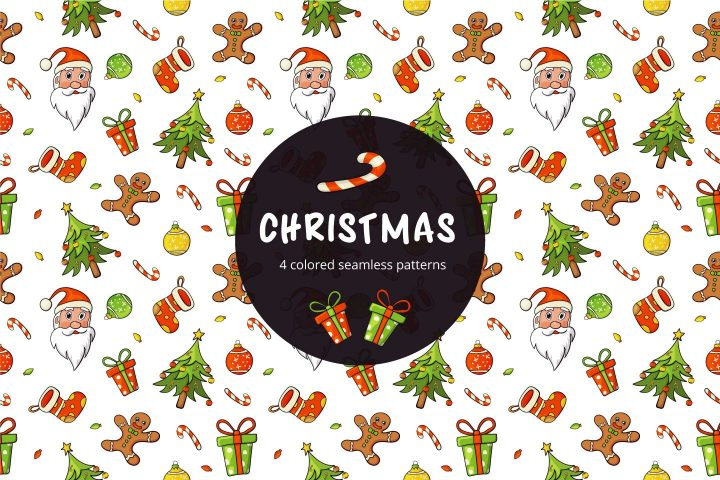 Christmas Vector Free Seamless Pattern