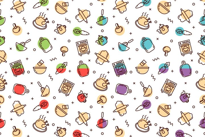 Cooking Vector Free Seamless Pattern