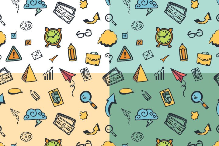 Business And Finance Vector Free Pattern