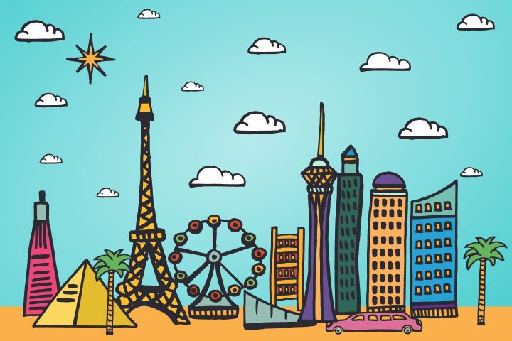 Las Vegas Vector Free Illustration