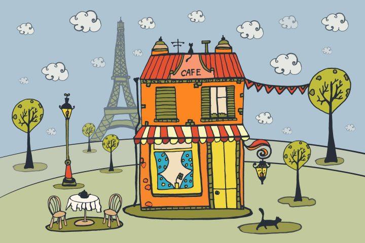 Love To Paris Free Vector Illustration