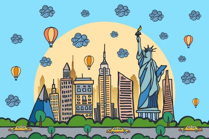 New York City Vector Free Illustration