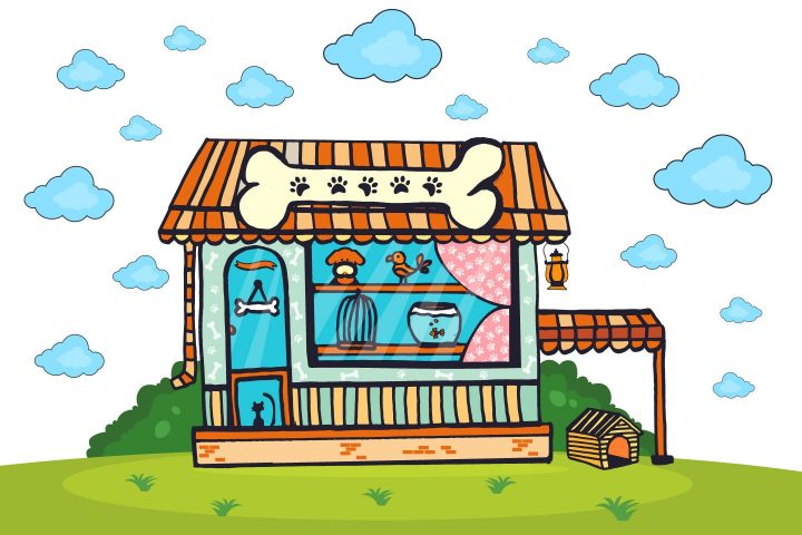 Pet Shop Vector Free Illustration
