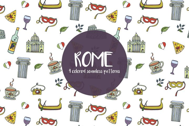 Rome Vector Free Pattern