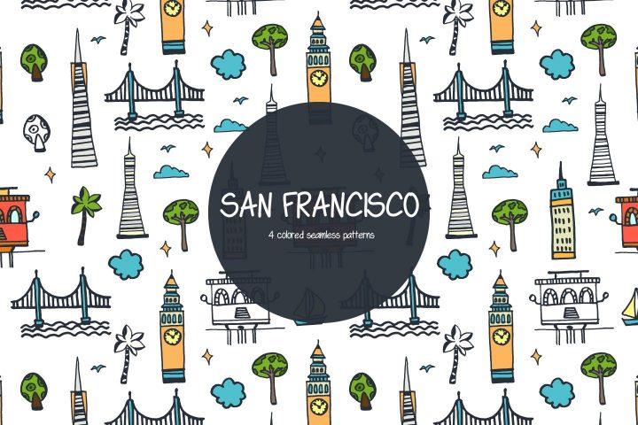 San Francisco Vector Free Pattern
