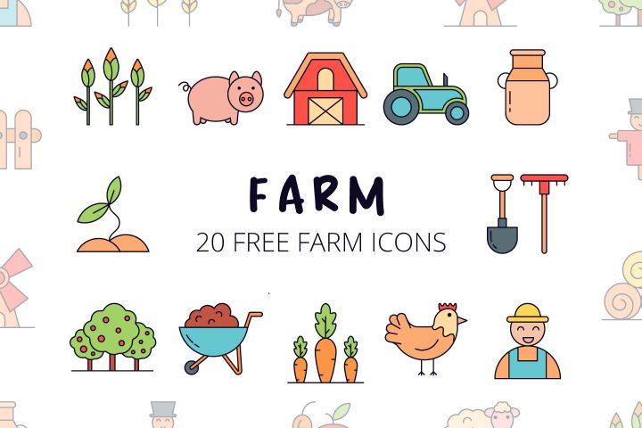Farm Vector Free Icon Set