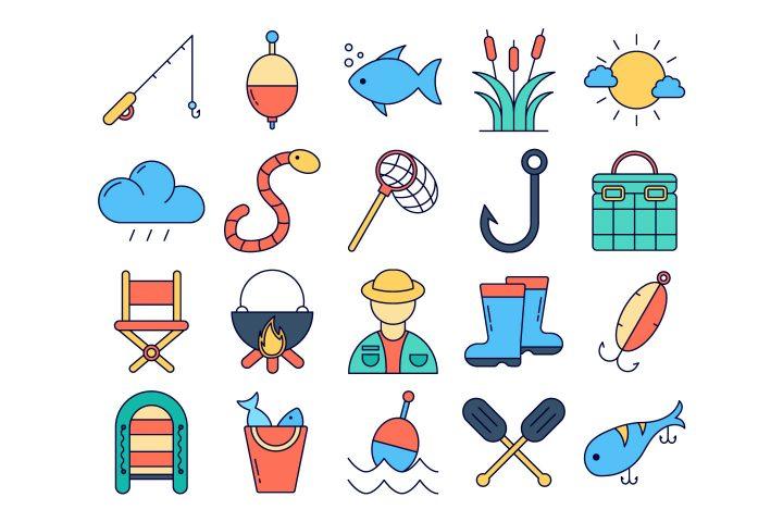 Fishing Vector Free Icon Set