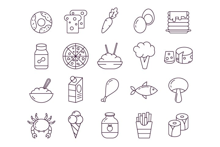 Food Vector Free Icon Set