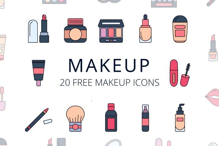Makeup Vector Free Icon set