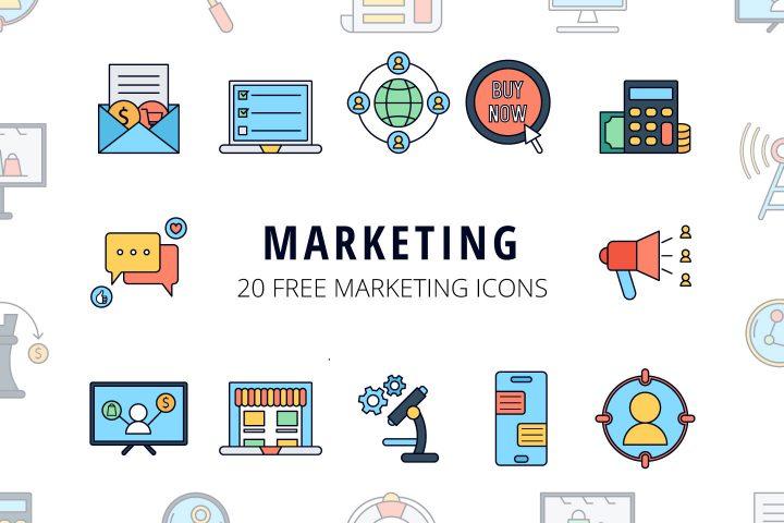 Marketing Vector Free Icon Set