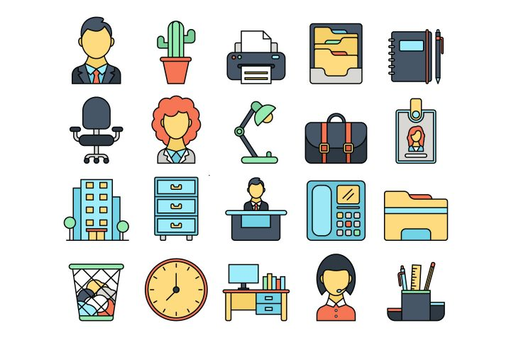 Office Vector Free Icon Set