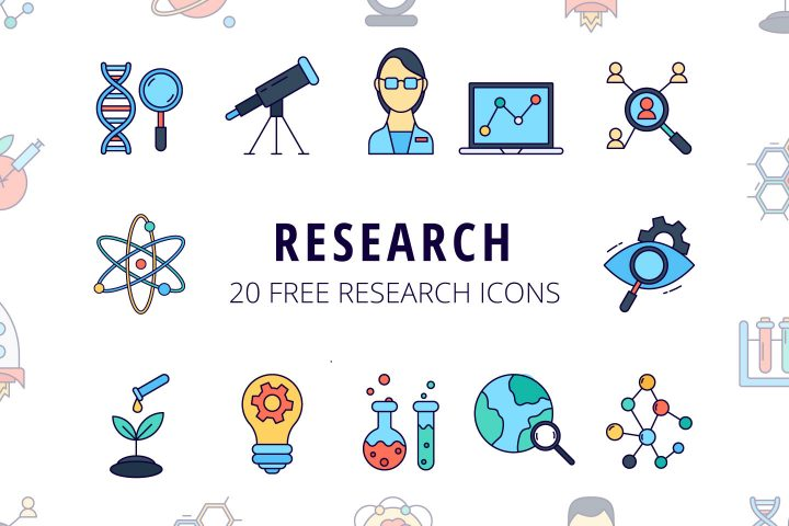 Research Vector Free Icon Set