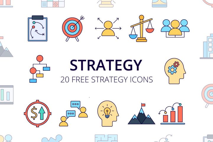 Strategy Vector Free Icon Set