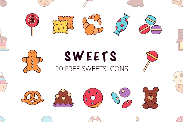 Sweets Vector Free Icon Set