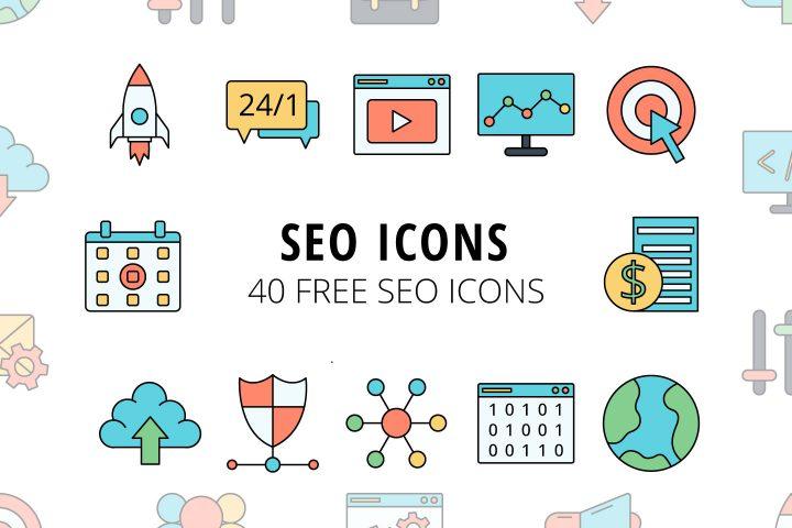 40 Free SEO Icons