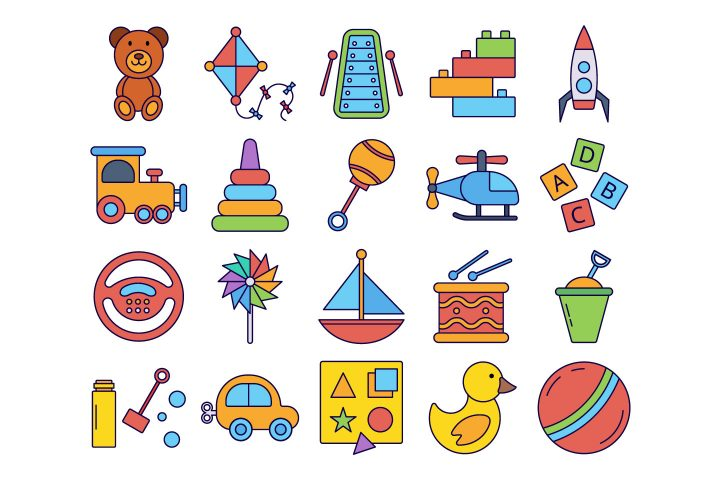 Baby Toys Vector Free Icon Set